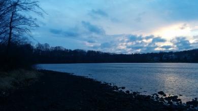 Lower Mystic Lake at Dusk 1