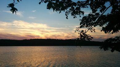 Upper Mystic Lake at Dusk 1a
