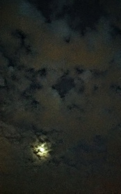 Moon Above Parking Lot 3