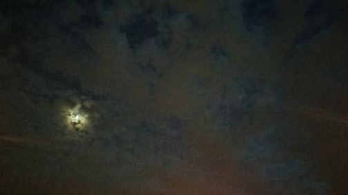 Moon above Parking Lot 2