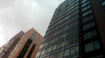 Streetlight Between Buildings 1
