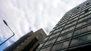 Streetlight Between Buildings 2