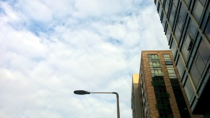 Streetlight Between Buildings 3