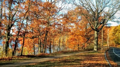 Mystic River Path and Mystic Valley Parkway in Fall 2