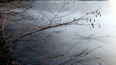 Early Winter Ice on Lower Mystic Lake 1