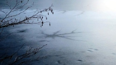 Early Winter Ice on Lower Mystic Lake 2