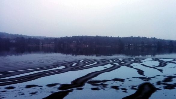 Upper Mystic Lake in Winter 1