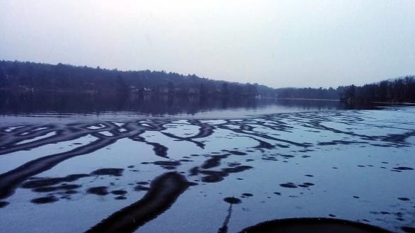 Upper Mystic Lake in Winter 2
