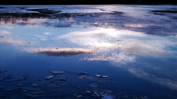 Reflection in Icy Lake 3b