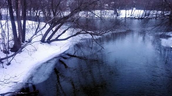 Alewife Brook in Winter 4a