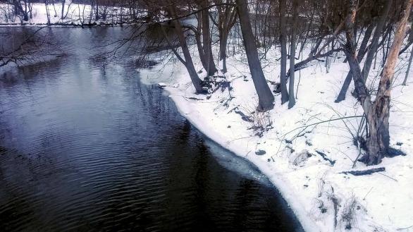 Alewife Brook in Winter 3b
