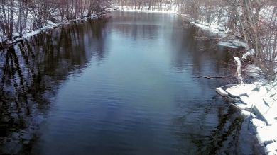 Mystic River after its First Bend (Winter) 1a