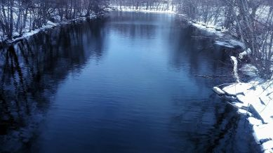 Mystic River after its First Bend (Winter) 1b