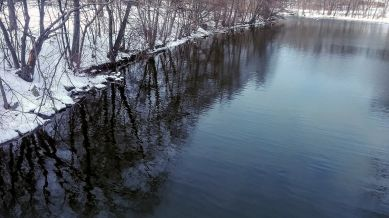 Mystic River after its First Bend (Winter) 2a