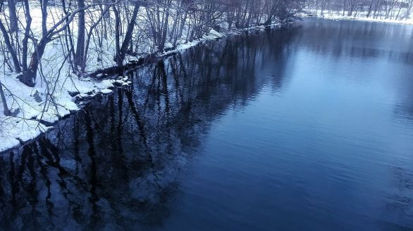 Mystic River after its First Bend (Winter) 2b