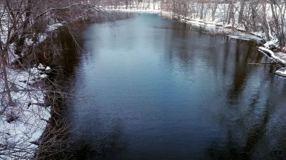 Mystic River after its First Bend (Winter) 3a