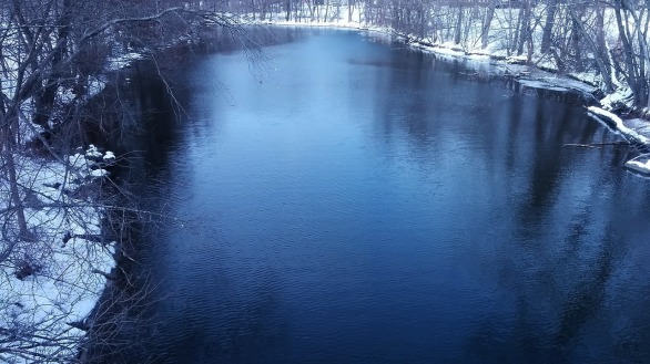 Mystic River after its First Bend (Winter) 3b
