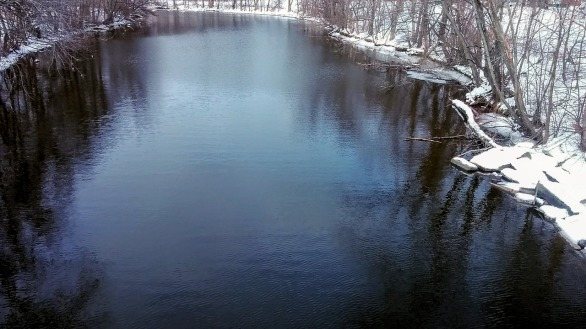 Mystic River after its First Bend (Winter) 4a