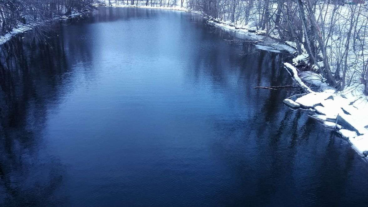 Mystic River after its First Bend (Winter) 4b